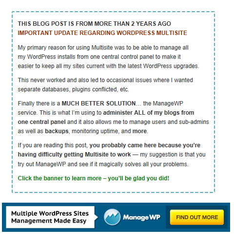 Discover how ManageWP solves all these problems and more!