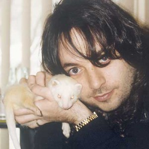 Eric and Marshmallow (Eric has the dark hair)