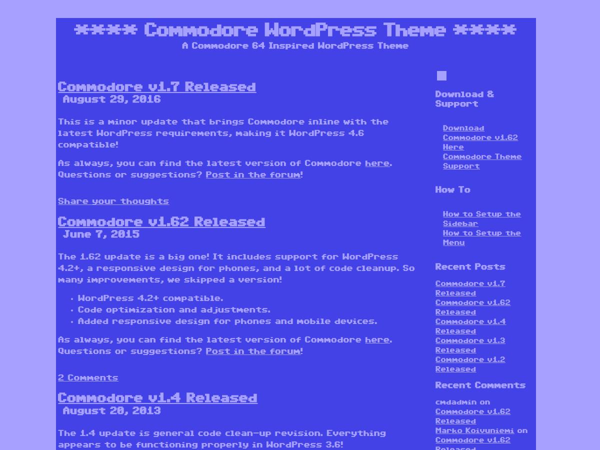 Commodore WordPress Theme